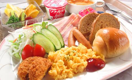 写真:洋朝食